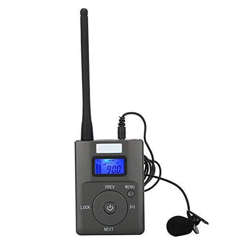 Mugast Wireless Audio Transmitter,Tragbare Wireless FM Sender Stereo Radio Broadcast Adapter,60MHz-108MHz Kabellos Transmitter FM Sender mit Antenne für Tourismus/Konferenzzimmer/Simultanübersetzung