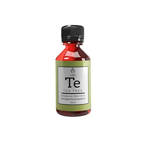 Teebaumöl von JUBEL 50ml I Ätherisches Öl gegen Akne und Warzen I Pflegt & schützt empfindliche Haut I 100% natürlich und vegan I Nachhaltige Alternative zu chemischen Akne Cremes