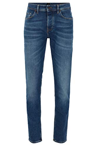 BOSS Herren Taber BC-C Tapered-Fit Jeans aus Stretch-Denim
