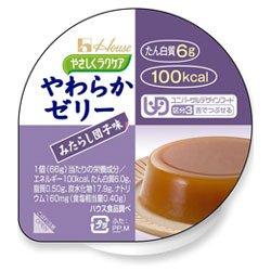 ハウス食品 やさしくラクケア やわらかゼリー みたらし団子味66g×48(12×4)個入×(2ケース)