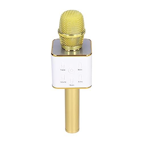 Micrófono Inalámbrico, Micrófono Bluetooth de Mano Micrófono Inteligente con Chip de Mezcla Procesador de Audio Profesional Altavoces Duales Máquina de Altavoces para Transmisiones en Vivo