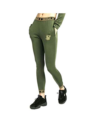 Pantalón Mujer Siksilk Taped Bronze Verd