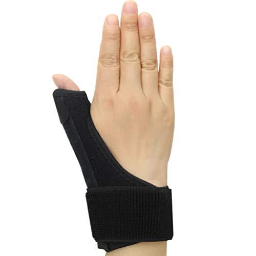 Exceart Daumenschiene Finger Schienen Schutz Einstellbar Fingerorthese für Arthrose Tenosynovitis Fingerschutz Daumen (Schwarz)