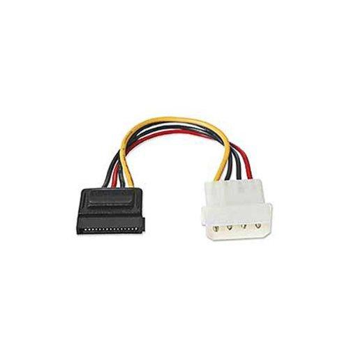 kenable Dynamode 4 Pines Molex A SATA Energía Cable Adaptador 15 cm