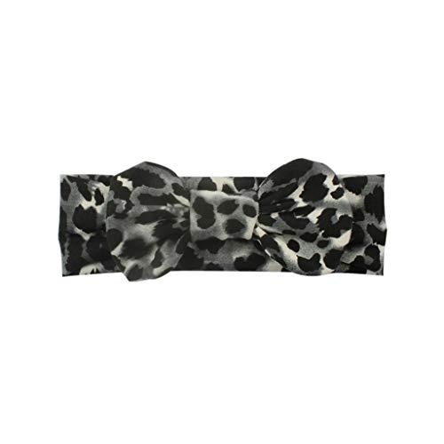 VIccoo babyhaarband, hete druk stretch doek luipaard boogknopen kinderen hoofdband baby haarband hoofdband hoofdwear - 2