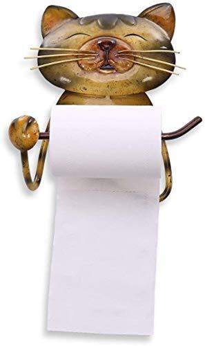 Titular del papel higiénico con forma de gato Tapa de la toalla de papel Simple y con clase Vintage Vintage Hierro de higorrio Titular de rollo de inodoro WC Papel Soporte para accesorios de baño 0120