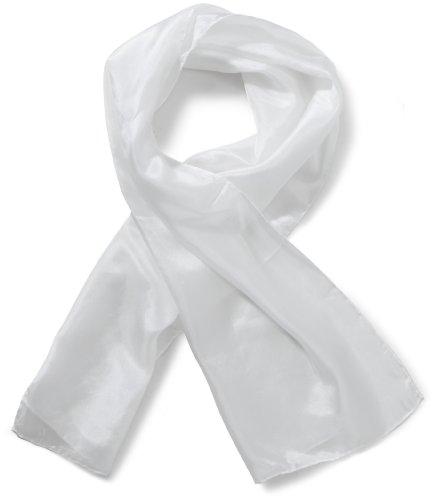 Kreul S5048 - Pongé Schal aus 100% Seide, ca. 130 x 35 cm, zur Bemalung mit Stoff- und Seidenmalfarben, weiß