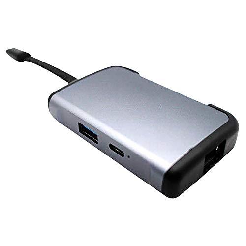 Timagebreze EstacióN de Acoplamiento Tipo C 5 en 1 USB Hub3.0 Hub USB Tarjeta de Red Gigabit Tipo C una HD HDMI
