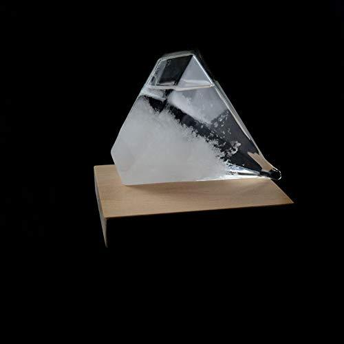 ZHEBEI Botella de previsión del tiempo de diamante accesorios para el hogar adornos botella de tormenta regalo de cumpleaños diamante 10.5 * 12