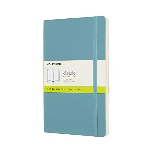 モレスキン カラーノート ノートブック ソフトカバー 無地 ラージサイズ リーフブルー QP618B35
