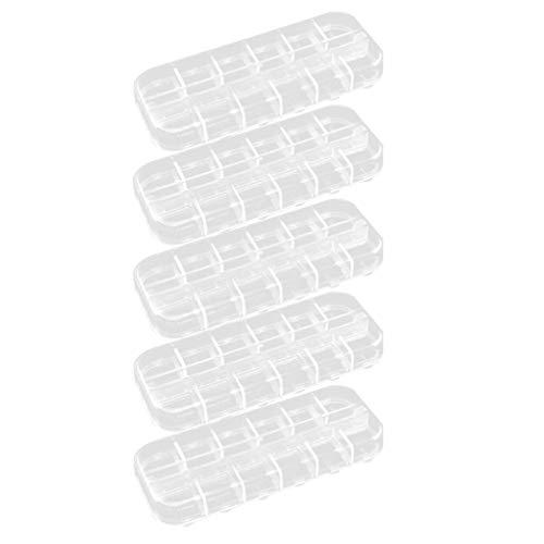 Artibetter Doorzichtige Plastic Organizer Box Met Verdelers 12 Opbergbakjes Voor Sieraden Sieraden Opbergdoos Met Verdelers Voor Kralen Oorbellen Kettingen Ringen Metalen Onderdelen 5St