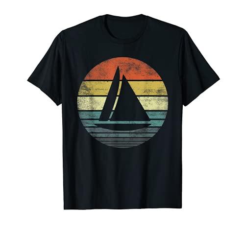 Capitanes de barco dueños regalos divertido retro velero barco vela Camiseta