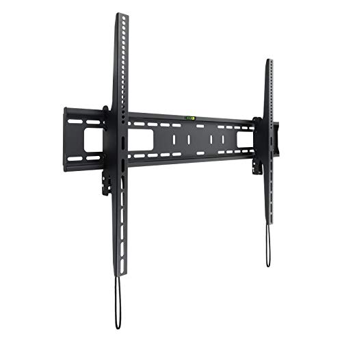 TooQ LP42100T-B - Soporte Fijo de Pared para Monitor/TV/LED de 60' a 100', hasta 75kg de Peso, Distancia a la Pared 85mm, inclinación -10/+5º,Ultra Delgado, Formato VESA hasta 900x600, Negro