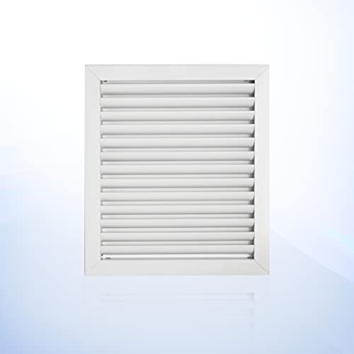 12 x 14 inch Ceiling or Wall Vent Cover in Aluminum, Return air Grille. HVAC registers, grilles & Vents, ac Vent Cover Adjustable Register. Outer Size is 13,625