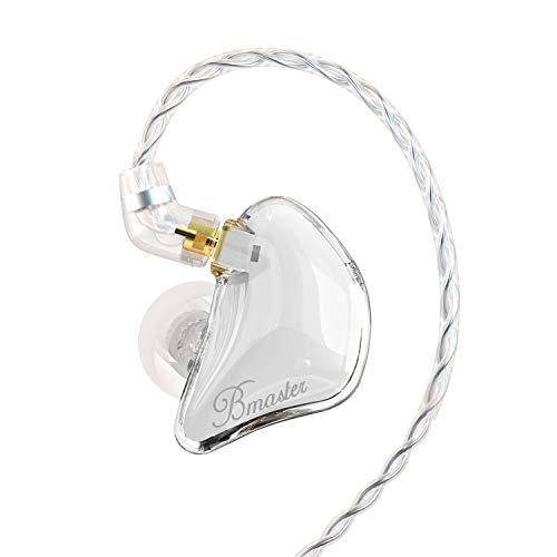 BASN Bmaster Triple Driver In Ear Monitor Headphones with Two Detachable Cables Fit In Ear Suitable for Audio Engineer, Musician (White)
