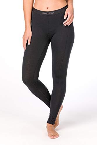 Super.natural Legging Long Femme, Laine mérinos, W BASE TIGHT 175, Taille : S, Couleur : Noir