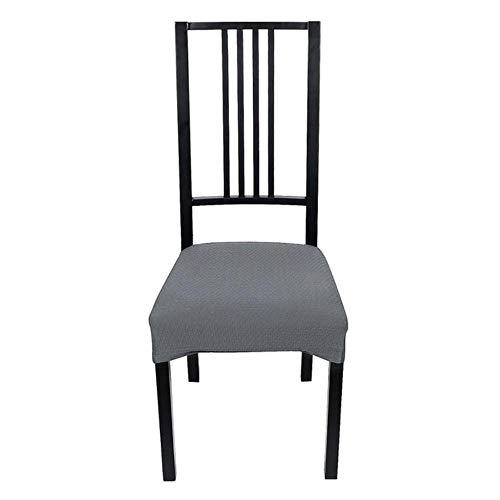 1/2/4 stuks stretch keuken stoelhoezen jacquard eetkamerstoel beschermhoezen verwijderbare elastische stoelhoes beige hoes, lichtgrijs, 2 stuks