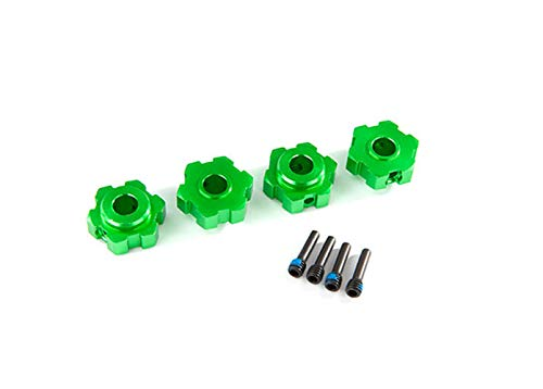 Traxxas 8956G Wheel Hubs, Hex, Aluminum (Green-Anodized) (4)/ Screw Pins (4)