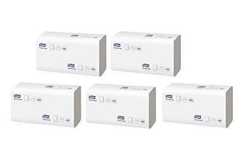 Tork Xpress Multifold Papierhandtücher 150100 - H2 Universal Falthandtücher für Handtuchspender - mehrfach gefaltet, 1-lagig, weiß - 5 x 230 Tücher (1150)