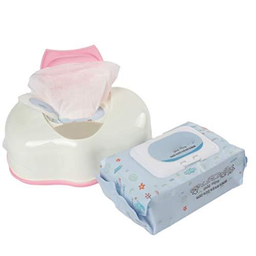 Tejido húmedo Caja de la Caja de plástico automática Real del Tejido Caso de Baby Wipes Prensa Pop-up Diseño Accesorios para el hogar del sostenedor del Tejido