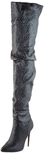 Buffalo Damen FREIJA Overknees, Schwarz (Black Tweed 001), 41 EU