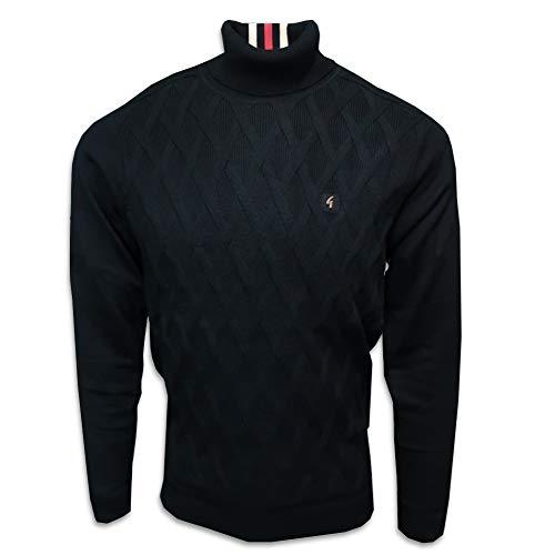 Gabicci Coaster Polo Neck Sweater | Black Medium