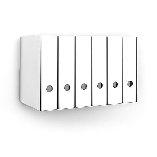 home3000 Ordnerregal Bürorregal aus Metall in Weiss für bis zu 14 Ordner