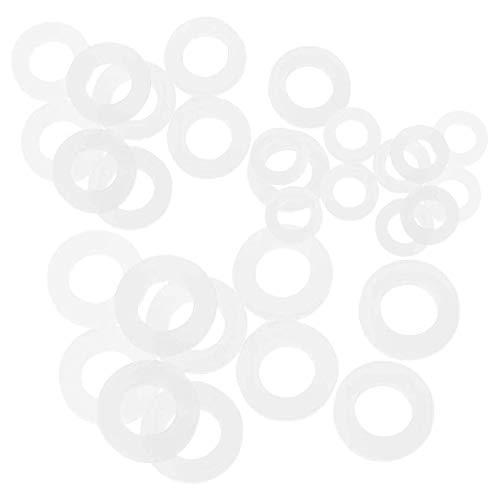 Winice Dichtungsringe, 30 Stück, Silikon-Schlauch, O-Ringe für Duschkopf (weiß, 3 Größen)