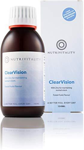 ClearVision - The Original Liquid Macular Supplement - Macular, Lutein, Meso-zeaxanthin, Zeaxanthin, Zinc Liquid Nutritional Supplement for maintaining Normal Vision 150ml | Vegan, Gluten Free