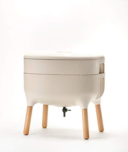 Design-Komposter Komposter Wurmkomposter Wohnraumkomposter Küchenkomposter, Farbe:Elfenbein-hell
