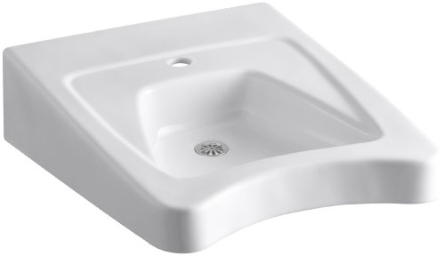 KOHLER K-12638-0 Morningside Wheelchair Bathroom Sink, White