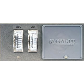 Reliance Controls Pro/Tran Transfer Switch Watt Meter Plate WP7500