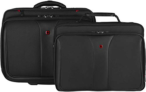 """Topline- Wenger Patriot 2-in-1 Wheeled Laptop Briefcase-Unisex, Ideal for Office Business Uni School, Black Good for up to 17"""" Laptop."""