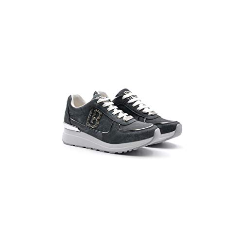 Laura Biagiotti Scarpe Sneakers da Donna Tessuto Blu 5528-NAVSPL