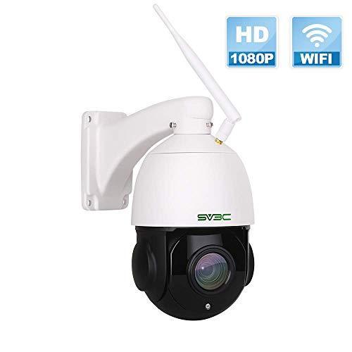 1080p PTZ Telecamera IP Esterno SV3C, Telecamera di Sicurezza Con ZOOM OTTICO 18X, v Rilevazione Movimento, 60m Visione Notturna, Audio Bidirezionale, IP66 Impermeabile …