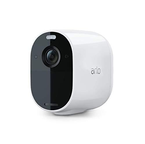 Arlo Essential Spotlight WLAN Überwachungskamera | Kabellos, 1080p, Farbnachtsicht, 2-Wege Audio, 6 Monate Akkulaufzeit, Bewegungsmelder, direkte WLAN Verbindung, kein Hub erforderlich, VMC2030