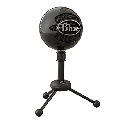 Blue Microphones 988-000178 Snowball Omnidirectional/Cardiod USB Microphone with Two Versatile Pickup Patterns and Stylish, Retro Design for Recording, Streaming and Podcasting on PC and Mac - Black