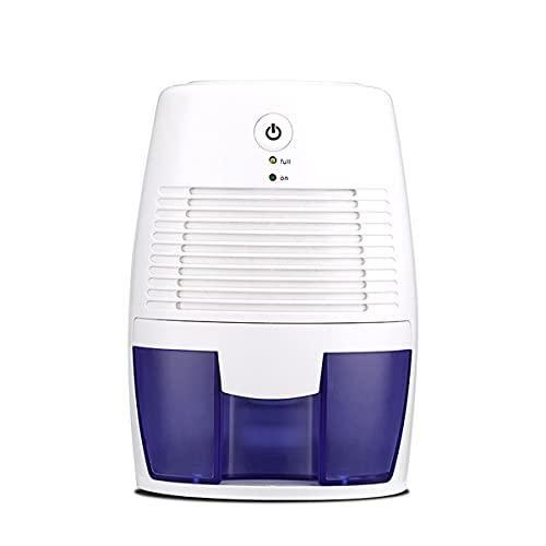 Deumidificatore, mini deumidificatore elettrico da 500 ml con spegnimento automatico, ultra silenzioso, contro muffa dell'umidità, per la casa, scantinati, camera da letto, bagno, garage, armadio