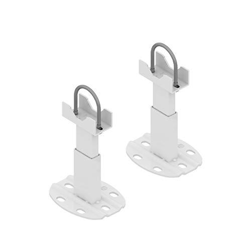 Par de fijaciones de suelo para radiador de aluminio - pie con sistema anti-desenganche para radiador de aluminio - Capacidad máxima 200 kg por fijación