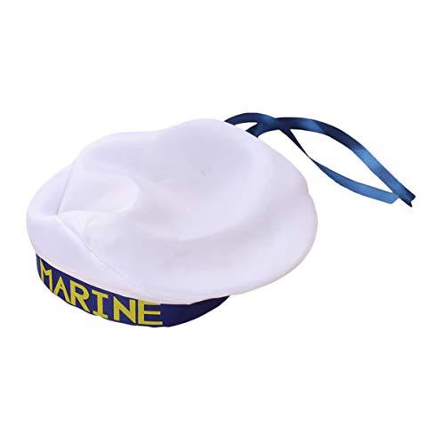 PRETYZOOM Gorras de Marinero Blancas para Niños Capitán de Yate para Niños Sombreros de Marinero Azul Marino Sombreros Náuticos Disfraz de Marinero de Halloween Accesorios de Crucero