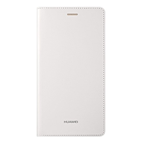 HUAWEI Leather Flip Case/Cover for HUAWEI P8 Lite Phone (Anti-Scratch, Stain & Impact Resistant) - White