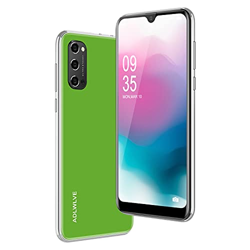 Teléfono Móvil Libres 4G, Android 9.0 Smartphone Libre, 6.3' HD+Water-Drop Screen, 3GB + 32GB, Cámara 8MP, Batería 4600mAh, Smartphone Barato Dual SIM, Face ID Moviles Baratos y Buenos (Verde)