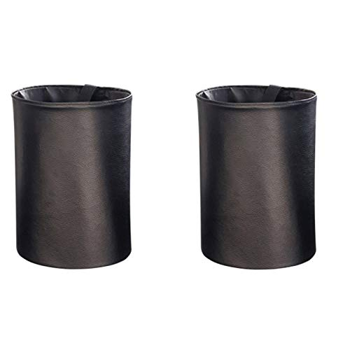 QMMB Bolsa De Basura De Coche Plegable Portátil, Bolsa De Basura De Coche Impermeable, para Limpiar Basura O Almacenar Artículos, Adecuados para Todos Los Autos,Negro,2PCS