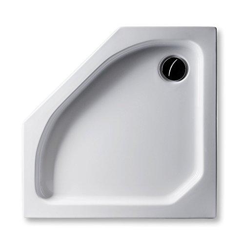 Acryl Duschwanne 90 x 90 cm flach 6,5 cm Fünfeck weiß Dusche/Duschtasse / Brausewanne