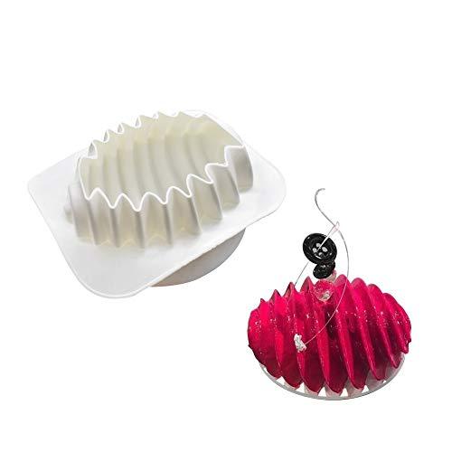 xiaoshenlu Muffa in Silicone per stampi in Silicone Mousse per Dolci in 3D, di Nuvola, Hive Rotante