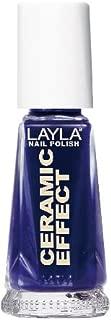 Layla Ceramic Effect Nail Polish, Blue Nigh, 1.9 Ounce