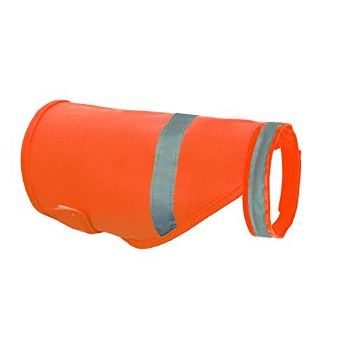 AKDSteel Reflektierende Sicherheitsweste für Hunde, für Outdoor-Arbeiten, Spaziergänge, Orange, Größe L