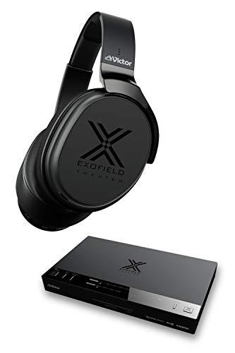 Victor JVC EXOFIELD THEATER XP-EXT1 ワイヤレスシアターシステム 7.1.4ch(マルチチャンネル音源)対応 2ch、5.1chアップミックス対応 2.4/5GHzデュアルバンドワイヤレス伝送 頭外定位音場処理技術 ブラック