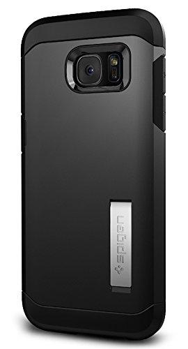 Samsung Galaxy S7 Edge Hülle, Spigen® [Tough Armor] Extrem Fallschutz [Black] Doppelte Schutzschicht Stoßabweisende Handyhülle Silikon TPU Innenteil + Polykarbonat Außenteil Stoßfest Schutzhülle für Samsung Galaxy S7 Edge Case Cover - Black (556CS20045)