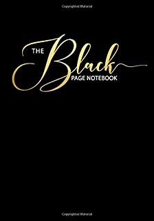 The Black Page Notebook: College Ruled Notebook/Journal